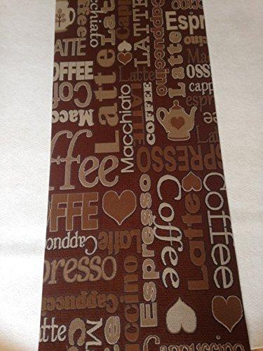 Tappeto cucina marrone e beige 50 x 300 3 metri caffe coffe cappuccino chabby shic antiscivolo lavabile in lavatrice