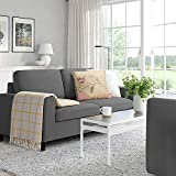 LEMBERI 54'' Small Loveseat Sofa Couch for Living Room, Small Modern Couch with Linen Fabric, Love Seats 2-seat Sofa Couch Space Saving for Small Space,Upstairs loft,Small Apartment,Dorm (Dark Grey)