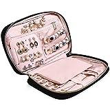 "MoMA jewlwey Organizer Travel - 9.8""L x 6.1""W x 1.9""H Jewelry Case - Jewelry Storage Box for Necklace, Earrings, Rings, Bracelets - Women Quilted Jewelry Box Organizer - Girl Portable Jewelry Case"