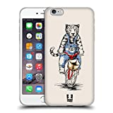 Head Case Designs Tigre Animales en Bicicletas Carcasa de Gel de Silicona Compatible con Apple iPhone 6 Plus/iPhone 6s Plus