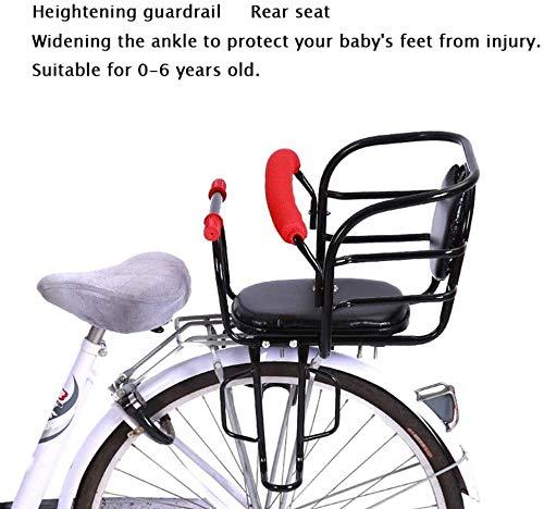 Fiets kinderzitje Bicycle Rear Child Safety Seat met kussen Dik Durable for 0-6 jaar oude baby veiligheidszitjes