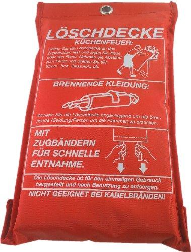 Feuerlöschdecke Löschdecke Feuer-Löschdecke Erste Hilfe 1x1m EN1869, iapyx®