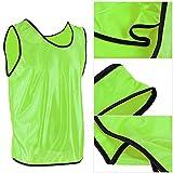 Crisis Chaleco de práctica en Equipo, Camisetas para niños, Chalecos, poliéster de 20,5 x 17,3 Pulgadas, Suelto para niños jóvenes(Fluorescent Green)