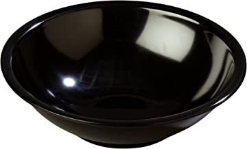 Carlisle 800B03 Melamine Salad Bowl, 27 oz, Black