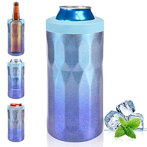 4-IN-1 Triple Insulated Beer Can Cooler [2021 NEWEST] 12oz Slim Can Cooler Stainless Steel for Beer...