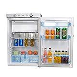 SMAD Mini Réfrigérateur Portable Propane 12V / 220V / Gaz LPG avec Congélateur Réfrigérateur à Absorption Silencieux pour Chambre d'Hôtel Caravane Camping-car RV 100L Blanc (XCD-100A)