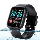 Adhope Smartwatch für Herren Damen Sportuhr Fitness Armbanduhr Bluetooth 1.3 Zoll Voll Touchscreen...
