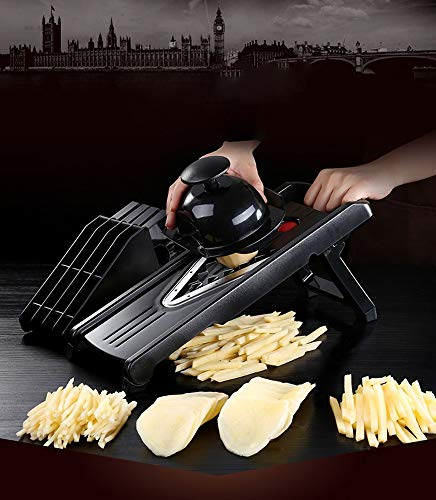 V-Blade Mandolin Slicer Cutter Julienne and Food Grater. Best for Slicing Onions Potatoes Tomatoes Fruit and Vegetables.