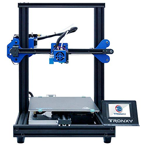 TRONXY New Upgraded 3D Printer XY-2 PRO Fast Assembly 255 * 255 * 260mm Large Printing Size Auto leveling/Continuation Print Power/Filament Sensor/Full Color Touch Screen/PLA Filament 250g Gift