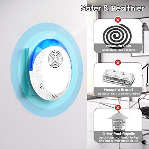 Lanccona Ultrasonic Pest Repeller, Electronic Indoor Pest Repellent Plug in Pest Control, Repellent for Mosquito, Fleas, Cockroaches, Rats, Mice, Bug, Spider, An   t, Human