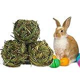 Juanshi 3 Stücke Kaninchen Molaren Pet Kauen Ball Gras Schleifen