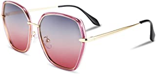 FEISEDY Vintage Womens Polarized Hexagon Sunglasses Gradient 100% UV Protection B2516
