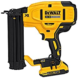 small DEWALT Cordless Nail Kit 20V MAX, 18GA (DCN680D1)