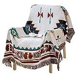 Ukontagood Sofadecke im Ethno-Stil, Geometrisch Muster Kuscheldecke, Navajo-Decke, Tagesdecke, Kunst-Deko Wendedecke, Bohemian-Decke (90 x 150 cm)