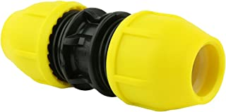 Underground IPS Yellow Poly Gas Pipe Coupler (3/4)