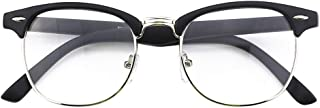 Happy Store CN56 Vintage Inspired Classic Horn Rimmed Nerd UV400 Clear Lens Glasses