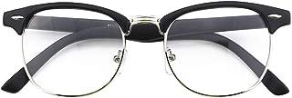 Happy Store CN56 Vintage Inspired Classic Horn Rimmed Nerd UV400 Clear Lens Glasses …