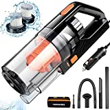 Car Vacuum, CherylonCar Portable Car Vacuum Cleaner High Power 150W/7500Pa, Handheld Vacuum for Car Interior Cleaning with Wet or Dry for Men/Women, 16.4 Ft Corded (Black)