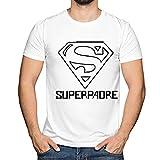 Camiseta 'Superpadre' en Todas Las Tallas - Regalo Original para Padres (Blanco, XS)