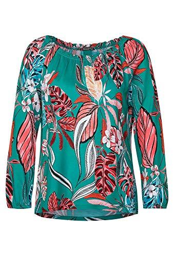 Street One Damen Shirt mit Carmen-Ausschnitt Pool Aqua 40
