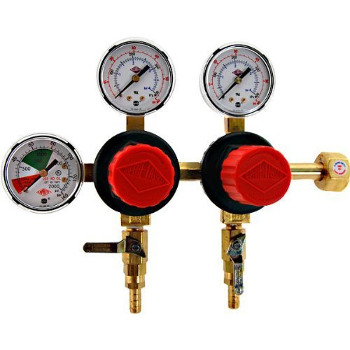 TapRite Separate Pressure Adjusting 2 Product CO2 Regulator