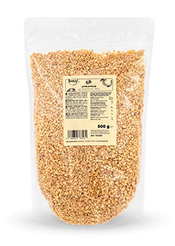 KoRo - Gefriergetrocknete Apfelstücke 500 g - 100 % Apfel ungeschwefelt - Ohne Zuckerzusatz - Ohne Farb-, Geschmacks- und Konservierungsstoffe - Süß-säuerlicher Geschmack - Vegan