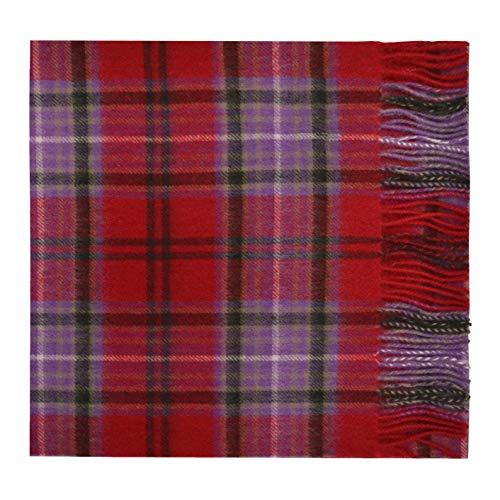Oxfords Cashmere Reine Schurwolle Luxury Tartan Schal (Kelly)