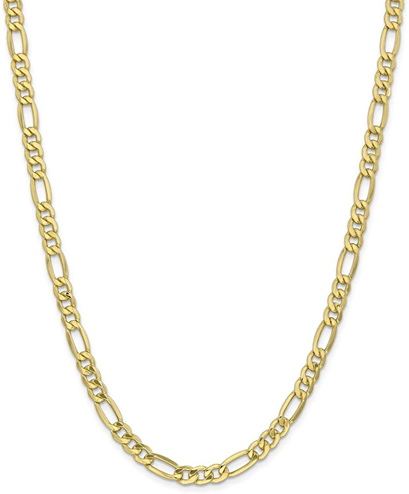 Max 83% OFF Inexpensive Leslie's 10K 6.6mm Figaro Semi-Solid Chain