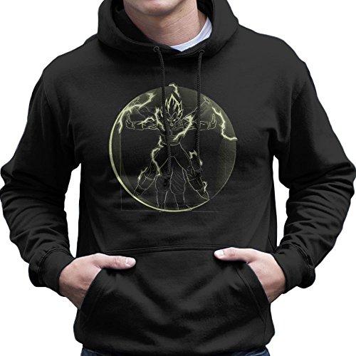 Cloud City 7 Vitruvian Saiyan Vegeta Dragon Ball Z Men's Hooded Sweatshirt