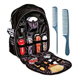 ZPJSZ Barber Bag Hairdressing Tool Bag Travel Hair Stylist Makeup Tool Organizer for Clippers and Supplies Barber Shop Multifunction Travel Backpack(No Internal Items) Black