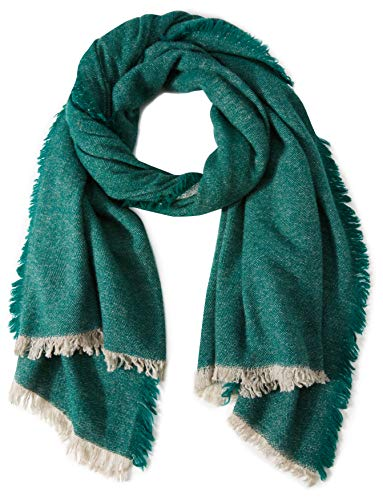 Liebeskind Berlin Damen H1189530 wool Halstuch, Grün (Bottle Green F 7690), One Size