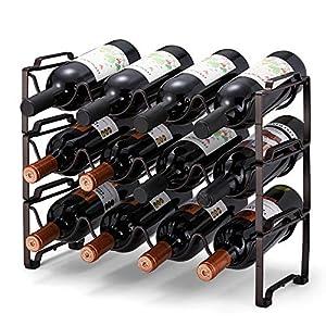 Simple Trending 3-Tier Stackable Wine Rack, Standing Bottles Holder Organizer,...