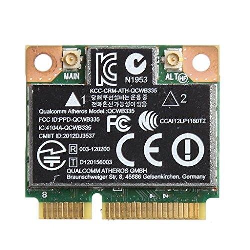 NAOTAI Nii Bluetooth 4.0 WiFi Mini Tarjeta inalámbrica PCI-E para HP QCWB335 AR9565 SPS 733476-001