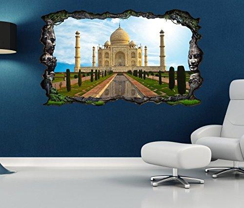 3D Wandtattoo tadsch mahal Skyline Indien Palast selbstklebend Wandbild Wandsticker Wohnzimmer Wand Aufkleber 11O1104, Wandbild Größe F:ca. 140cmx82cm