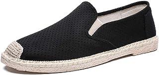 Chaussure de Ville Plate en Toile Souple Respirant pour Homme Espadrille Chaussure au Loisir a Lacets de Peche Basse