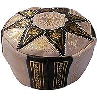 Puf Puff Puff Puf Marruecos Auténtico Piel Piel Árabe Etnico Reposapiés Otomano Handmade 2209191146