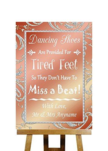 Flip Flops Sandalen Voor Moe Voeten Koraal Roze Collectie Gepersonaliseerde Bedrukte Kaart Bruiloft Teken Large A3 roze