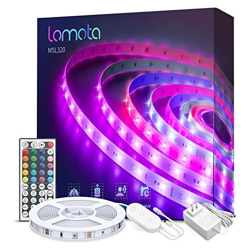 Striscia LED Intelligente lomota 5M, Compatibile con Alexa, Google Home, RGB LuceNastroLuminoso WiFi, Multicolore per Festa, Bar, Scrivania Gaming