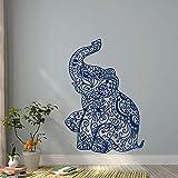 ONETOTOP Elefante Yoga Tatuajes de Pared Indie Arte de la Pared Dormitorio Dormitorio Boho Nest...