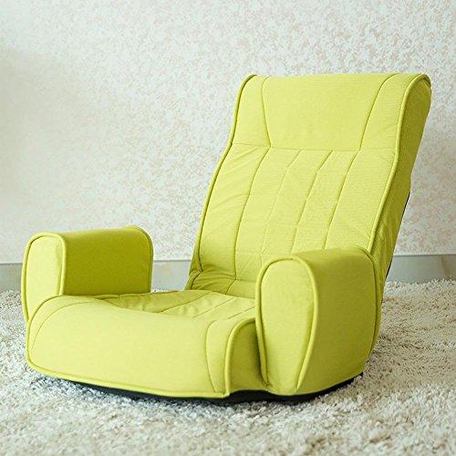KSUNGB Fainéant Canapé Individuel Canapé Pliant Canapé d'étage Dossier de lit Chaise de lit Loisirs allongé, Green