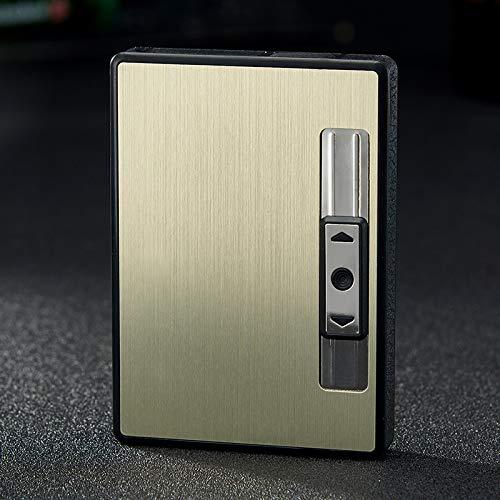 Mini Pitillera De Aleación 5 Piezas De Cigarrillos De Aluminio, con USB...