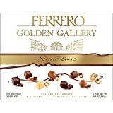 Ferrero Golden Gallery Signature Gift Box - Fine Assorted Chocolates Holiday Candy - 8 Recipes, 24 Premium Specialties per Box - Net Wt. 8.4 Ounce