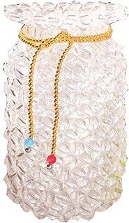 Handmade Beaded Vase Material Package DIY Transfer Beads Weaving Living Room Adult Flower Arrangement Jewelry Decoration (White)