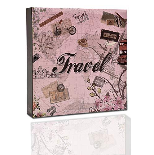 ARPAN Travel - Álbum de fotografías con Capacidad para 200 Fotos de 10 cm x 15 cm, con Caja Protectora para guardarlo, de 22 cm x 21,5 cm x 4,5 cm