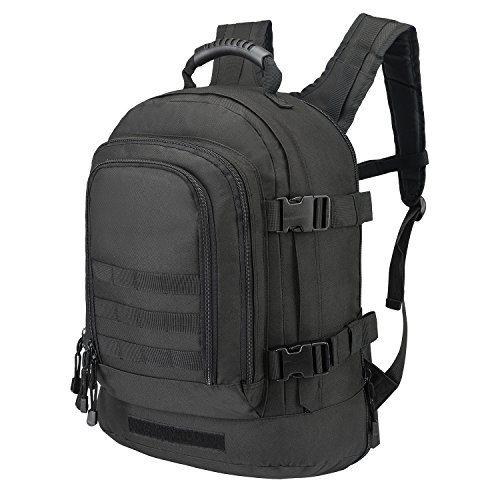 Expandable Adjustable Backpack With Waist Strap 39-64 L Large 3 Day Rucksack for Outdoors Hiking GYM Camping Trekking Military Tactical Bug Out Durable Comfortable and Lightweight Bag