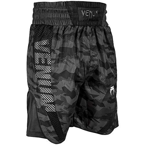 Venum Elite Boxen Shorts, Urban Tarnen/Schwarz, M