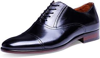 Kirabon Zapatos de Cuero, Vestido de Gama Alta, Zapatos de Hombre, Zapatos de Hombre Pintados a Mano. (Color : Negro, Size : 44)
