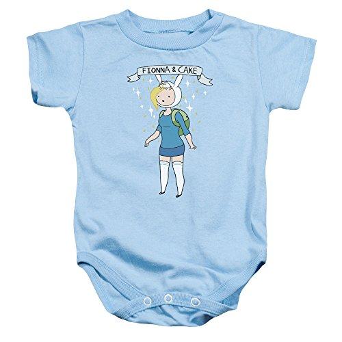 Adventure Time - - Fionna pour Tout-Petits et gâteau, 6 Months, Light Blue
