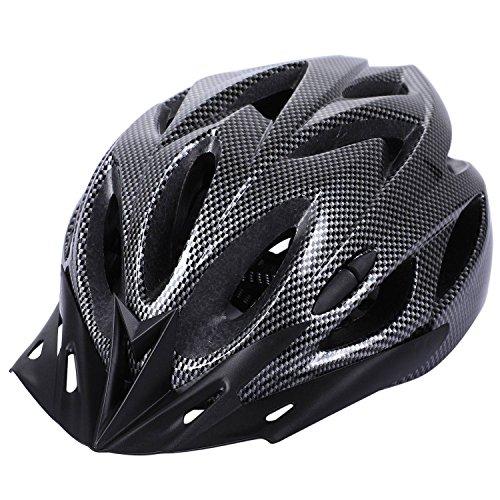 Haude Casco per Bicicletta in Carbonio MTB Cycling Casco di Sicurezza Regolabile per Adulto