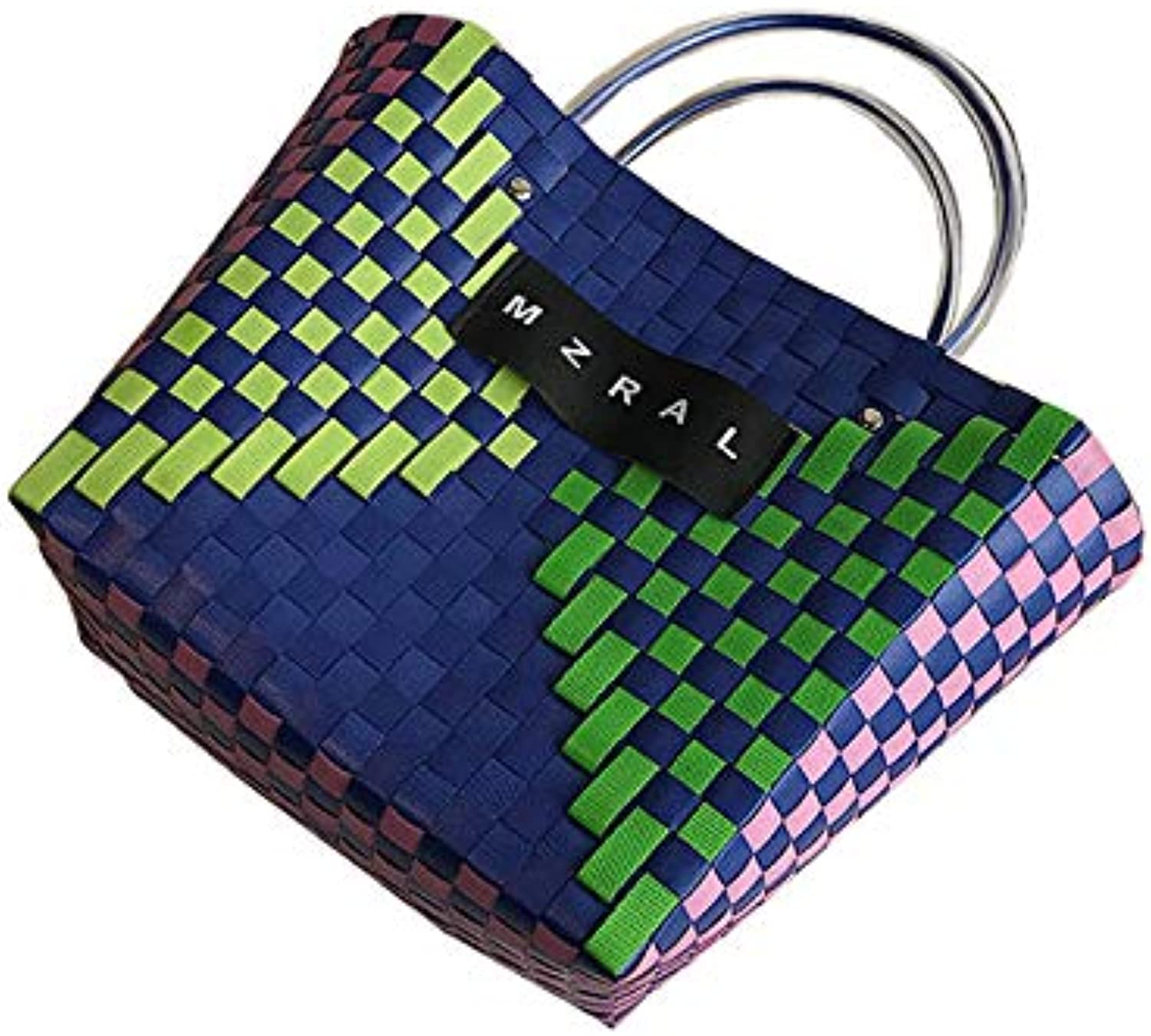Woven Bag Fashion Girl Portable Basket Bag(A;)